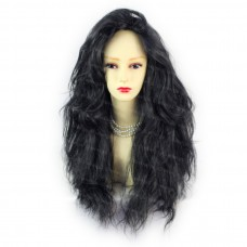 Romantic SEXY Wild Untamed Long Wavy Wig Black Ladies Wigs from WIWIGS UK