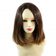 Wiwigs ® Pretty Medium Bob Style Wig Strawberry Blonde & Light Brown Dip-Dye Ombre Hair UK