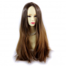 Wiwigs ® Fabulous Long Straight Wig Strawberry Blonde & Light Brown Dip-Dye Ombre Hair UK