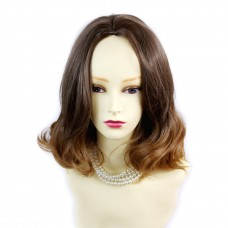 Wiwigs ® Pretty Short Wavy Bob Style Wig Strawberry Blonde & Light Brown Dip-Dye Ombre Hair UK