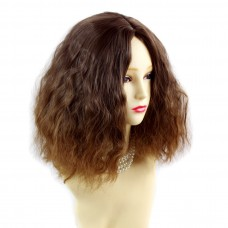 Wiwigs ® Wonderful Wild Untamed Medium Curly Wig Strawberry Blonde & Light Brown Dip-Dye Ombre Hair UK