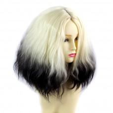 Wiwigs ® Wonderful Wild Untamed Medium Curly Wig Light Blonde & Medium Brown Dip-Dye Ombre Hair UK