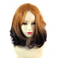 Wiwigs ® Lovely Medium Bob Style Wig Dark Brown Dip-Dye Ombre Hair UK