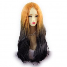 Wiwigs ® Fabulous Long Straight Wig Dark Brown Dip-Dye Ombre Hair UK