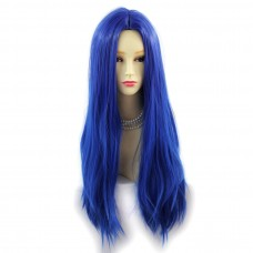 Wiwigs ® Romantic Long Straight Wig Blue & Dark Blue Dip-Dye Ombre Hair UK