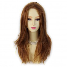 Wiwigs ® wonderful long honey brown skin top straight ladies wig uk