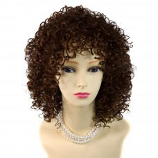 Wiwigs ® Untamed Light Brown Short Curly Summer Style Skin Top Ladies Wig