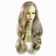 Fabulous Long Layers Wavy Wig Blonde mix Brown Ladies Wigs Skin Top