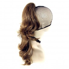 Long Wavy Golden Brown mix Ponytail Claw Clip in Hair Piece Extension UK