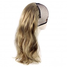 Half head 1 Piece clip In Curly Light Brown Dark Light Blonde Highlights Hair Extensions UK
