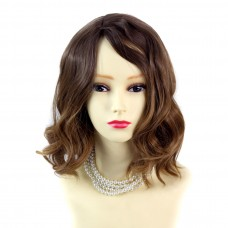 Wiwigs ® Lovely Short Wavy Wig Strawberry Blonde & Light BrownDip-Dye Ombre Hair UK