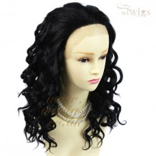 Lovely Beautiful Lace Front wig Black Brown Curly Long Ladies Wigs UK