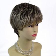 Posh Summer Style dark Brown & Blonde Short Ladies Wigs form WIWIGS.