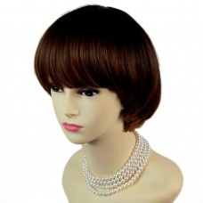 Lovely Bob Style Black Brown & Red Short Lady Wigs Dip-Dye Ombre hair WIWIGS.