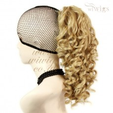 Spiral Curly Hair Piece Blonde mix Ponytail Irish Dance Extension UK