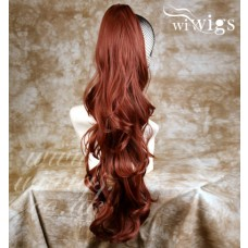 Fox Red Long Ponytail hairpiece Extension Jaw/Claw Clip in on Wavy Hair Piece