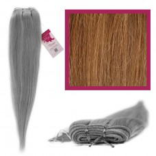 "DIY Double Weft Lush 'Caramel Brown' 20"" Hair Extensions Deluxe Human Hair."