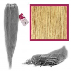 "DIY Double Weft Lush 'Light Blonde' 18"" Hair Extensions Deluxe Human Hair."
