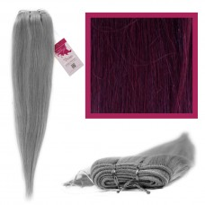 "DIY Double Weft Lush 'Deep Red Wine' 20"" Hair Extensions Deluxe Human Hair."