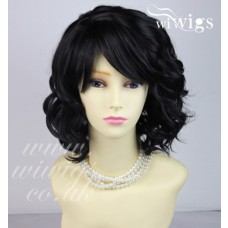 Heat Resistant Awesome Lovely Short Curly Black Brown Skin Top Ladies Wigs UK