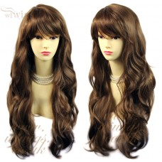 Sexy Beautiful Long Layered wavy wig Light Chestnut Brown Ladies Wigs UK #8