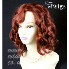 Lovely Short Wig Curly Fox Red Summer Style Skin Top Ladies Wigs