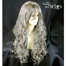 Sexy Beautiful Curly Blonde mix Brown Long Heat Resistant Ladies Wigs WIWIGS UK
