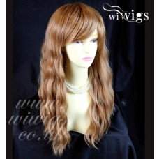 Beautiful Long Blonde mix Auburn Heat Resistant Ladies Wigs from WIWIGS UK