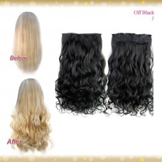 Half head 1 Piece clip In Curly Off Black Hair Extensions UK