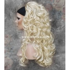 Long Wavy Pale Blonde 3/4 Wig Fall Hairpiece Hair Extension WIWIGS