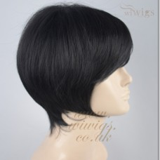 POSH Lovely Classic BOB Style Short Wig Jet Black Skin Top Ladies Wigs UK 1B