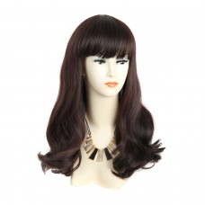 Wiwigs ® Fabulous Long Wavy Brown Auburn mix Ladies Wigs skin top Hair