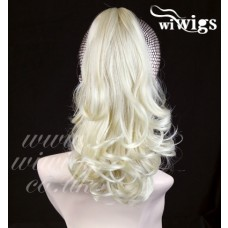 Bleach Blonde Ponytail hairpiece Extension Jaw/Claw Clip in on Curly Hair Piece