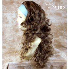 Light Chestnut Brown 3/4 Fall Hairpiece Long Curly Layered Half Wig Hair Piece