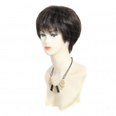 Wiwigs ® Lovely Short Black Brown & Auburn Summer Full Hire Skin Top Lady Wigs