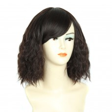 Wiwigs ® Lovely Pretty Medium Curly Full Hire Dark Brown & Auburn Ladies Wigs