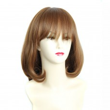 Wiwigs ® Pretty Short Bob Full Hire with Fringe Light Brown Ladies Wigs