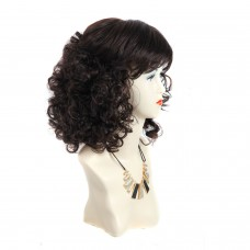 Wiwigs ® Classic Pretty Medium Curly Full Hire Dark Brown & Red Ladies Wigs