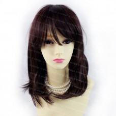 Gorgeous Soft Wavy Medium Long Black Brown mix Dark Auburn Ladies Wigs from Wiwigs UK