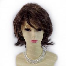 Gorgeous Short Perfect Wavy Dark Brown mix Golden Blonde Ladies Wigs WIWIGS UK