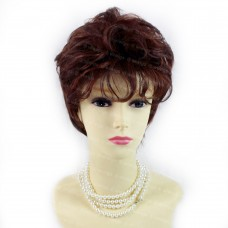 Posh Short Curly Fox Red mix Auburn Summer Style Ladies Wigs from WIWIGS UK