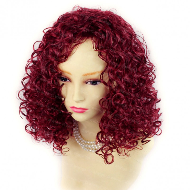 Wiwigs Amazing Wild Untamed Medium Curly Wig Burgundy