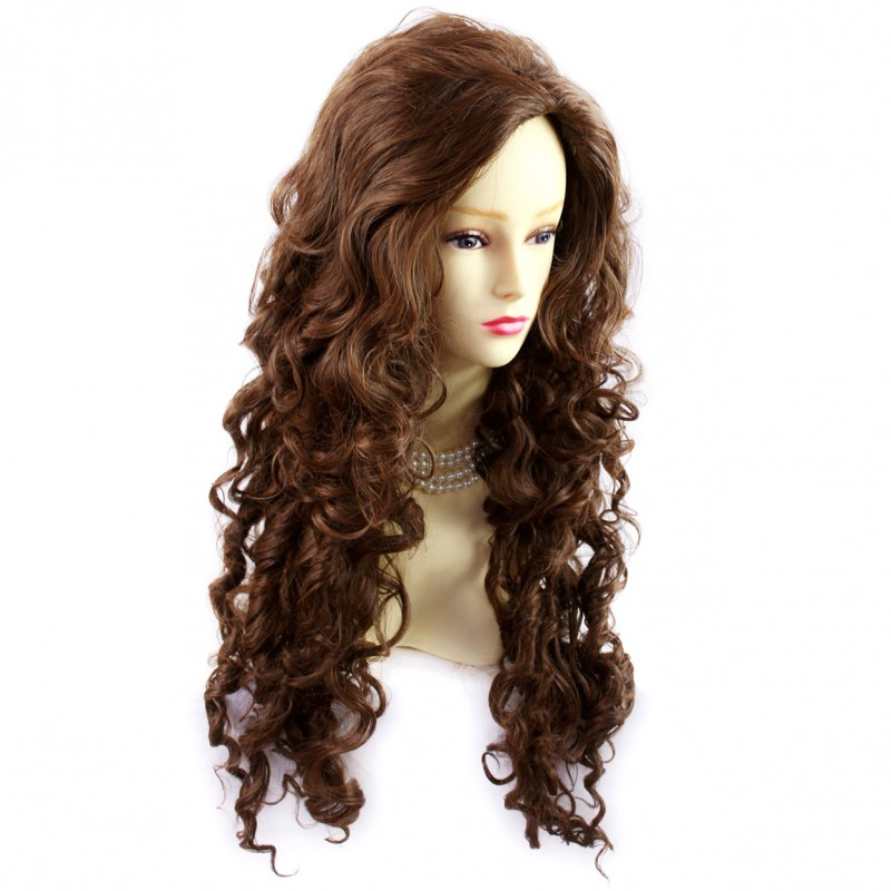 Wiwigs Sexy Wild Untamed Long Curly Wig Brown Auburn Mix