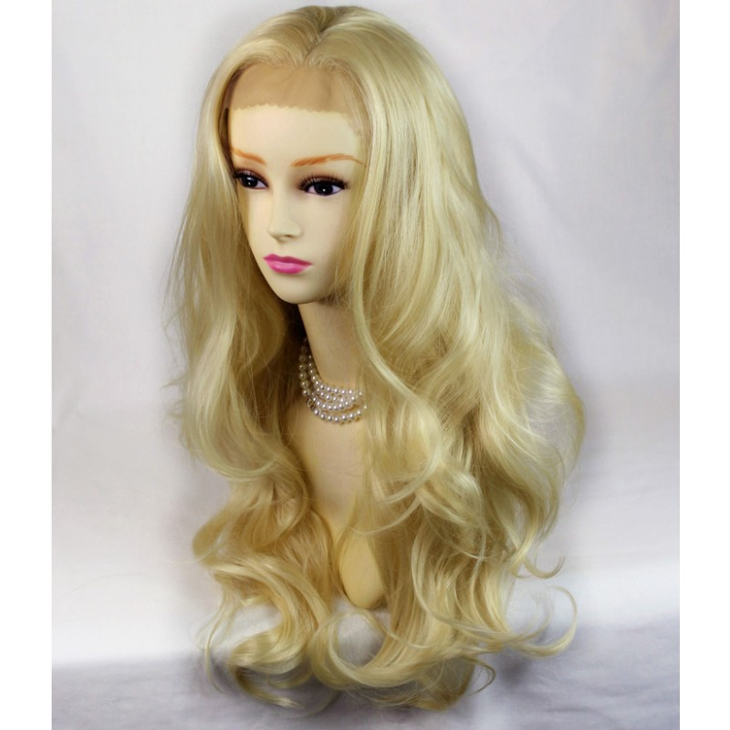 Wiwigs French Lace Front Wig Wavy Heat Resistant Pale