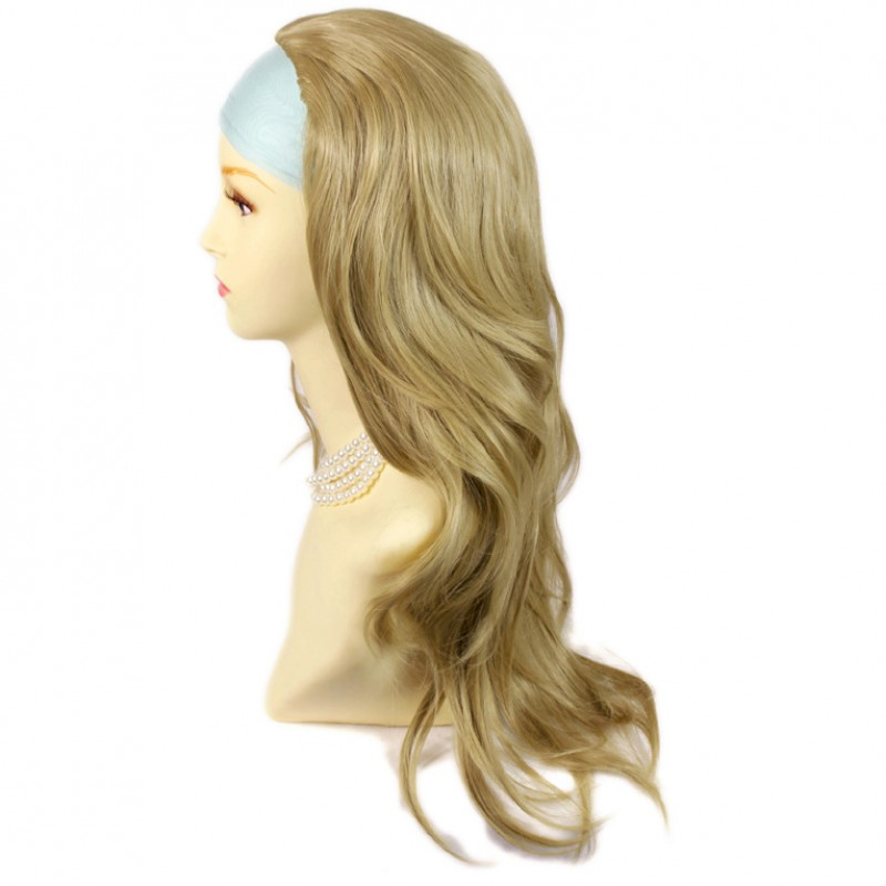 Wiwigs Golden Blonde Long Layered Wavy Ends 3 4 Wig Fall