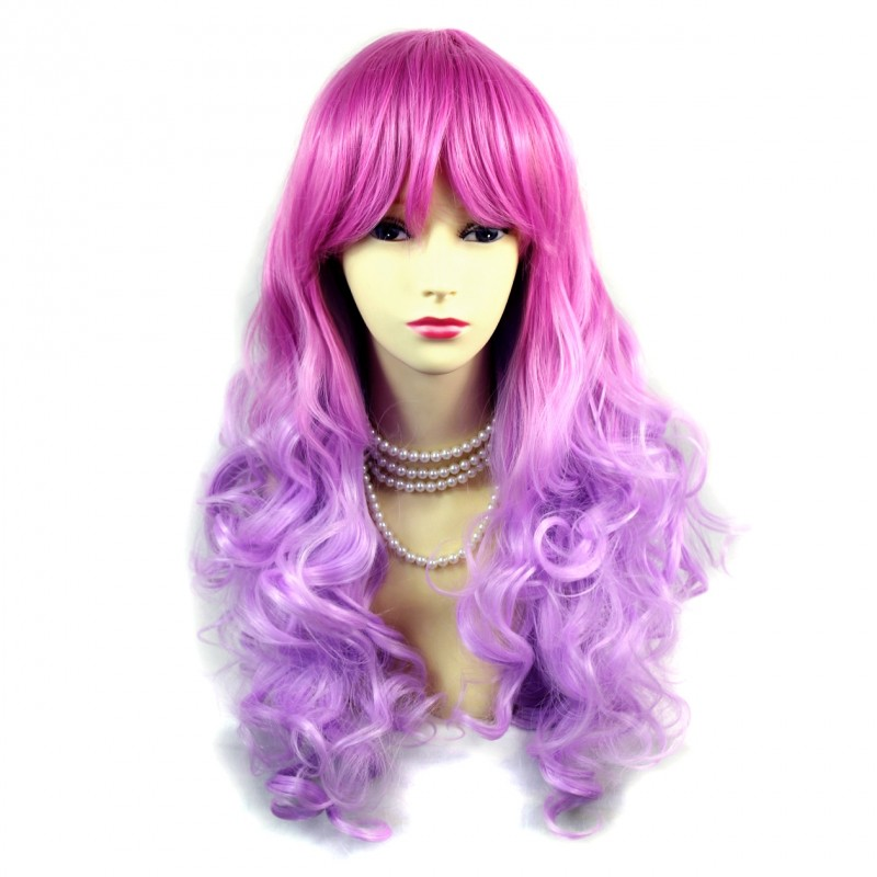 Wiwigs Wiwigs 174 Romantic Long Curly Wig Dark Pink