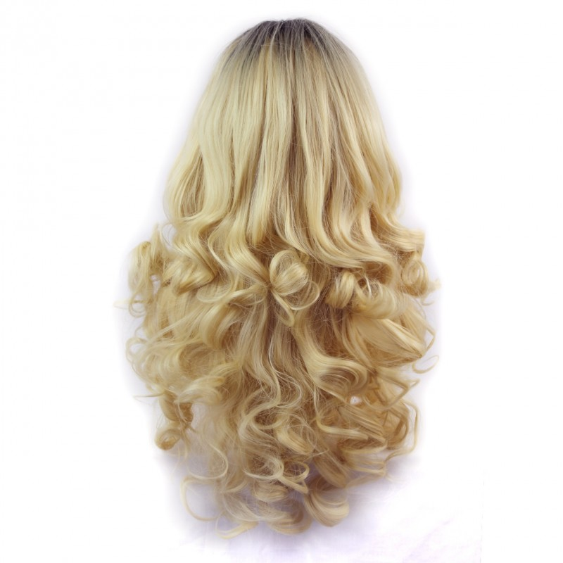 Real Hair Lace Wig Blonde