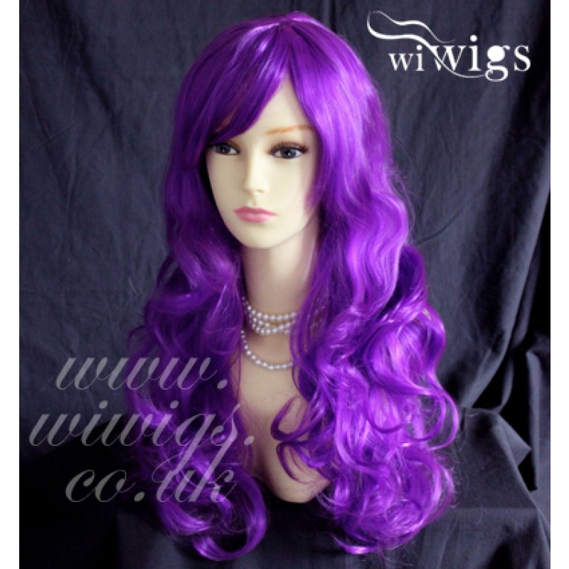 Wiwigs - Sexy Beautiful Heat Resistant Purple Long Curly Cosplay ... d5b4b7efca7a