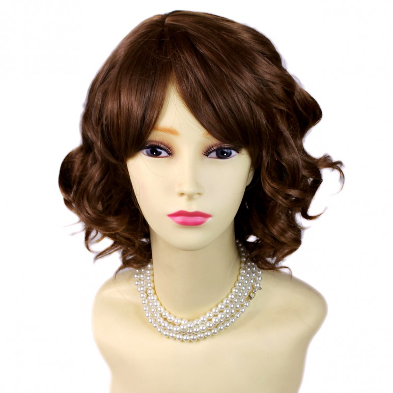 Wiwigs Awesome Lovely Short Wig Curly Light Brown Summer