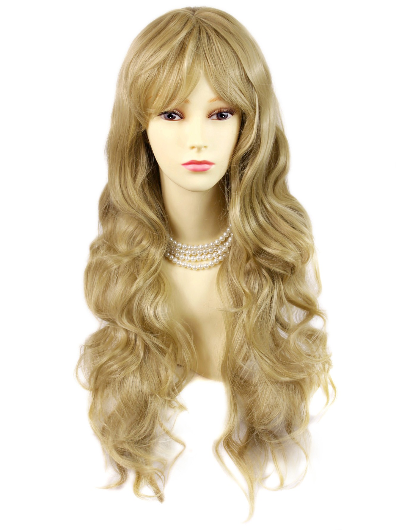 Wiwigs Sexy Beautiful Curly Golden Blonde Long Wavy